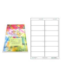 A4 Pre-Cut Multi Matte White Paper Labels (2x7, 14 Labels per Sheets)