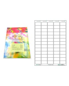 A4 Pre-Cut Multi Matte White Paper Labels (5x13, 65 Labels per Sheets)