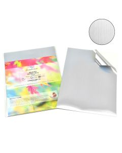 A4 Waterproof Inkjet & Laser Brushed Silver Vinyl Labels
