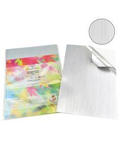 A4 Waterproof Inkjet & Laser LINES Pattern Holographic Silver Vinyl Labels