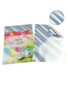 A4 Waterproof Inkjet & Laser TILTED Pattern Holographic Silver Vinyl Labels