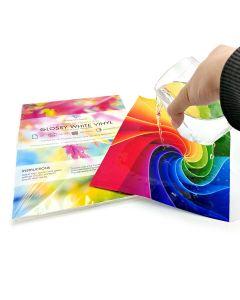 A4 Premium Waterproof Inkjet Glossy White Vinyl Labels