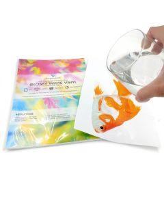 A4 Waterproof Laser Glossy White Vinyl Labels