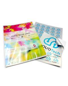 A4 Premium Waterproof Inkjet & Laser Matte Pearlescent Silver Vinyl Labels