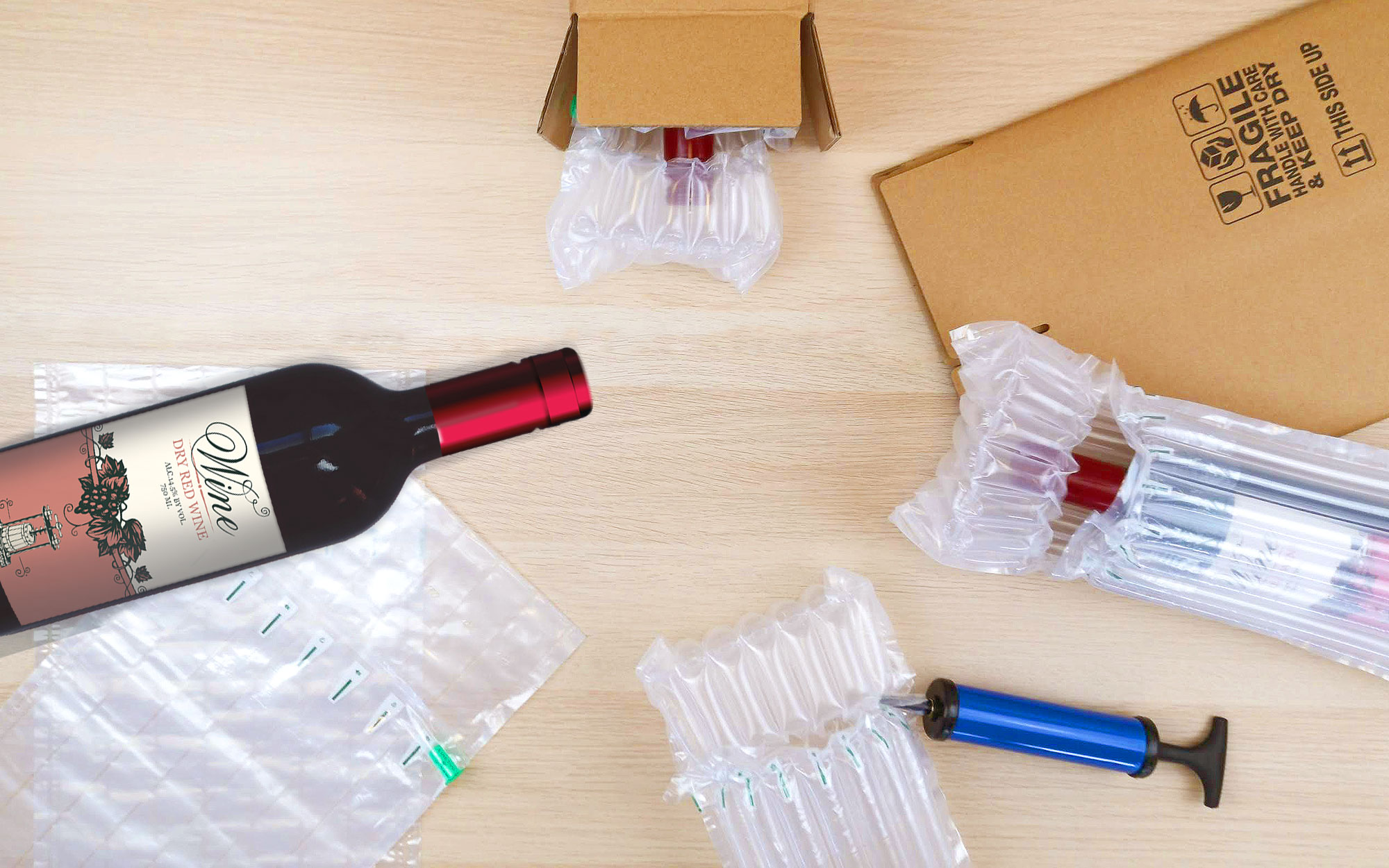 How To Inflate Bottle Protection Bags